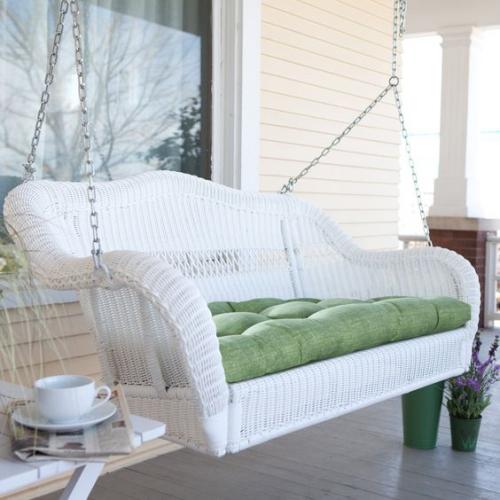 aménagement de porche canapé élégant suspendu