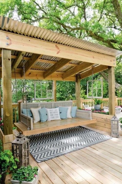aménagement de porche ensemble en bois
