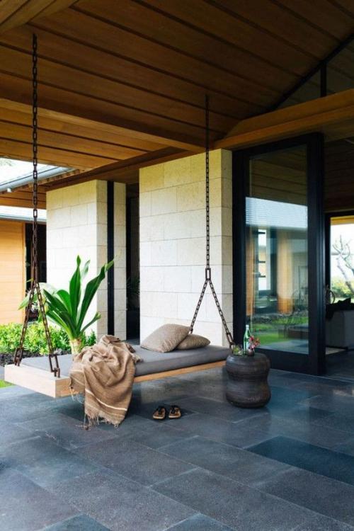 aménagement de porche maison de plain-pied