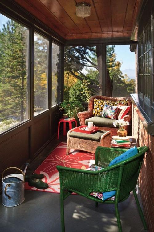 aménagement de porche style de chalet