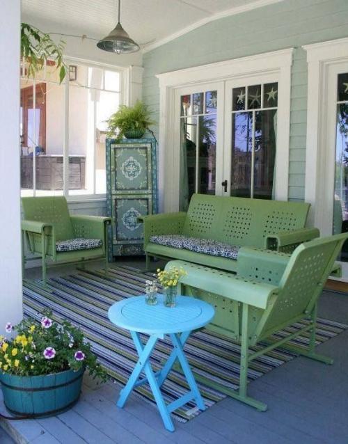 aménagement de porche style rétro