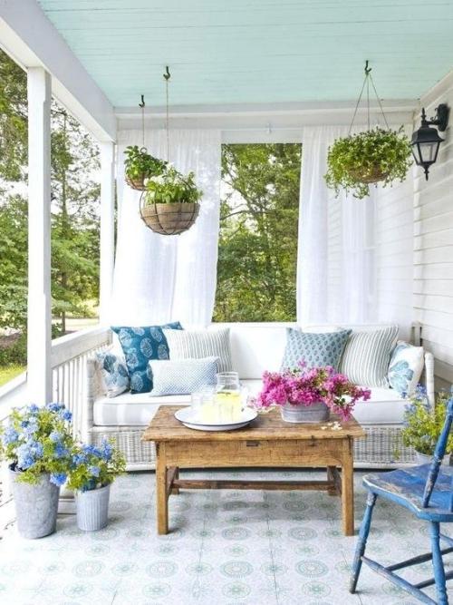 aménagement de porche style vintage