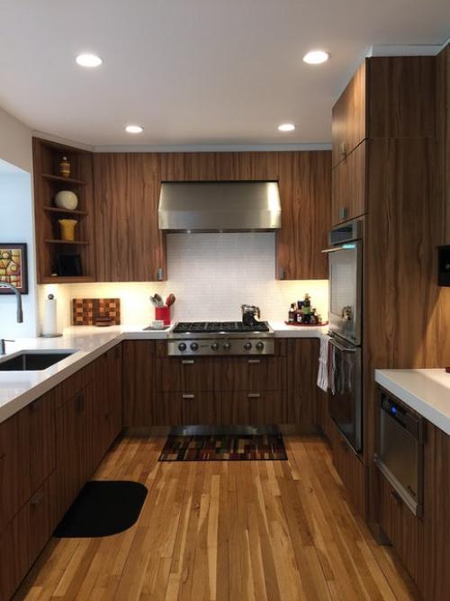 aménager une cuisine longue ameublement en « U »