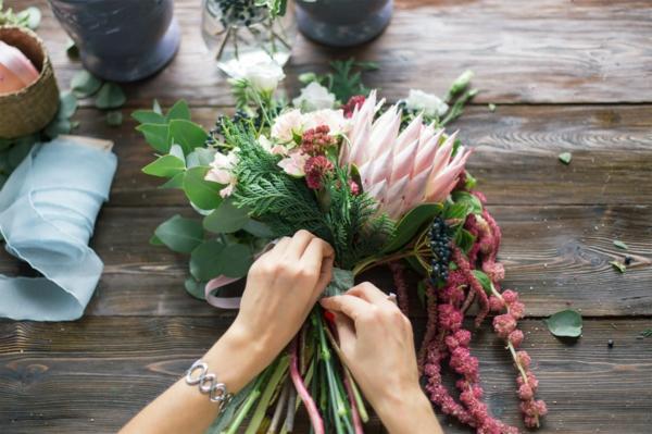 bouquet de mariée artificiel à créer soi-même