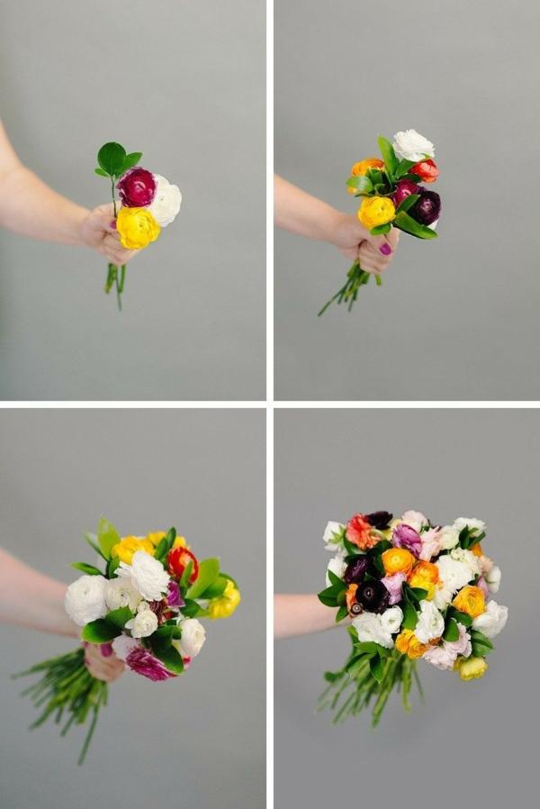 bouquet de mariée artificiel à faire soi-même