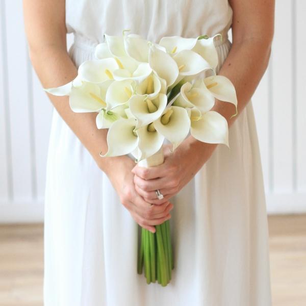 bouquet de mariée artificiel fleurs blanches