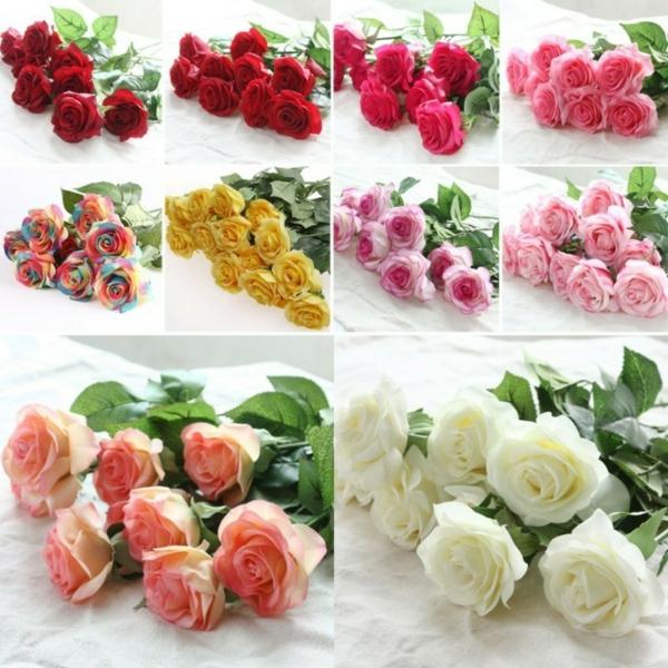 bouquet de mariée artificiel fleurs pas cher