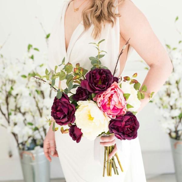 bouquet de mariée artificiel pour l'automne