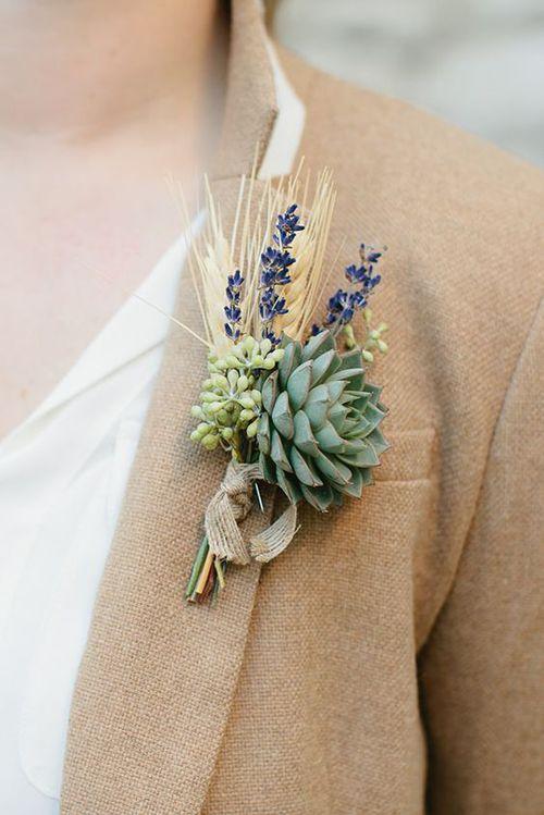 boutonnière mariage fête champêtre