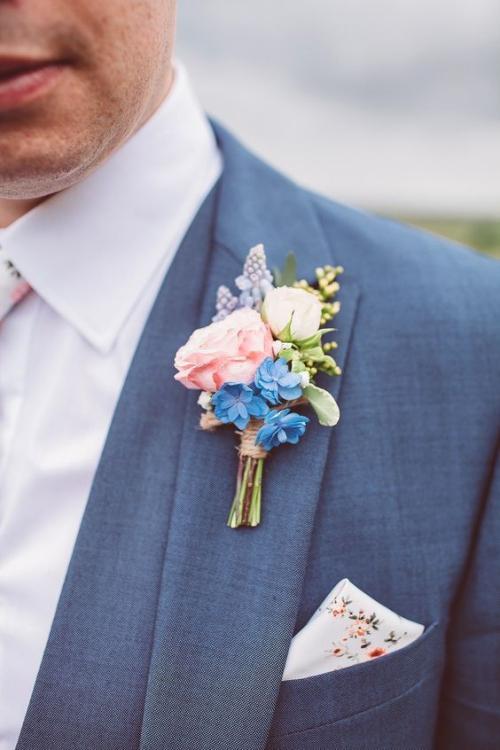 boutonnière mariage joli mini bouquet