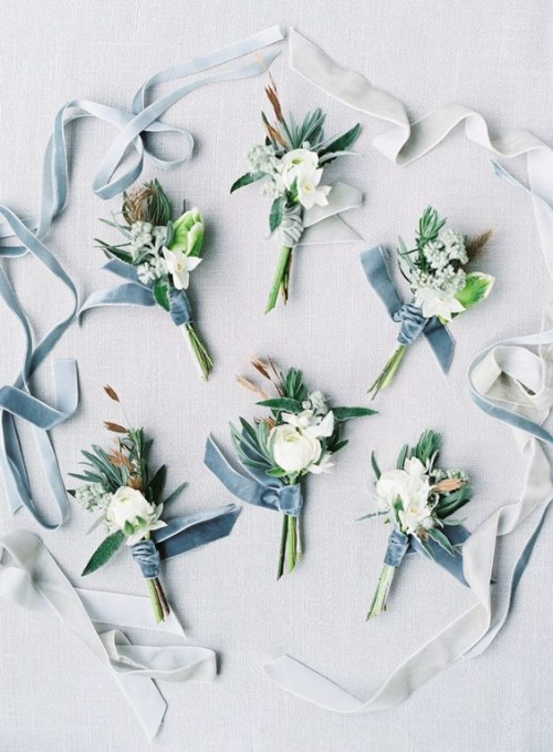 boutonnière mariage petits bouquets sympas