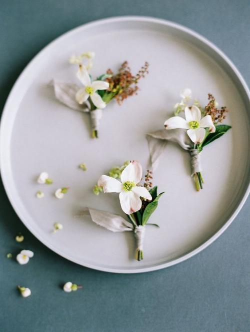 boutonnière mariage pour un mariage champêtre