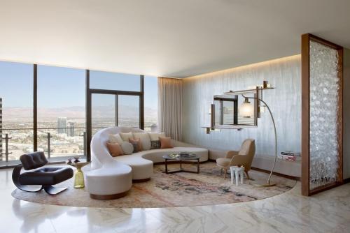 canapé arrondi sol en marbre