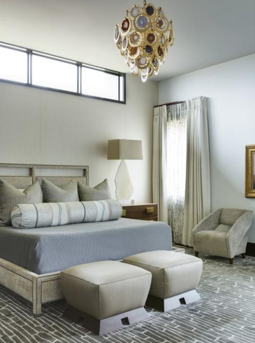 chambre bleu gris moquette intéressante