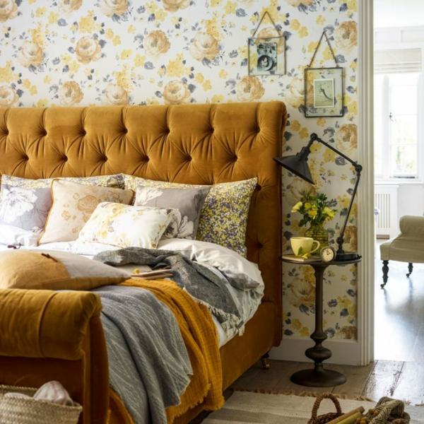 chambre chaleureuse couleur de peinture tendance 2019 dulux brun miel épicé