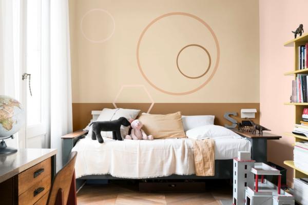 chambre d'enfant couleur de peinture tendance 2019 dulux brun miel épicé