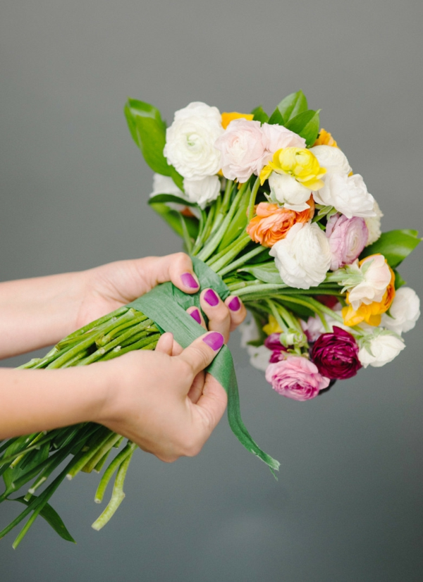 comment faire un bouquet de mariée artificiel