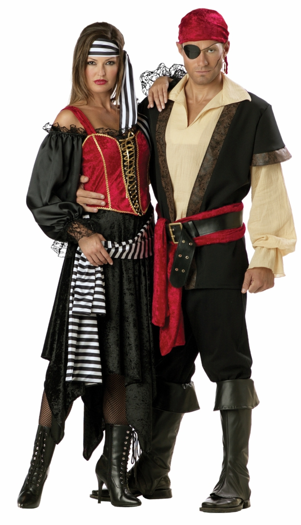 costume de pirate idée de déguisement couple halloween