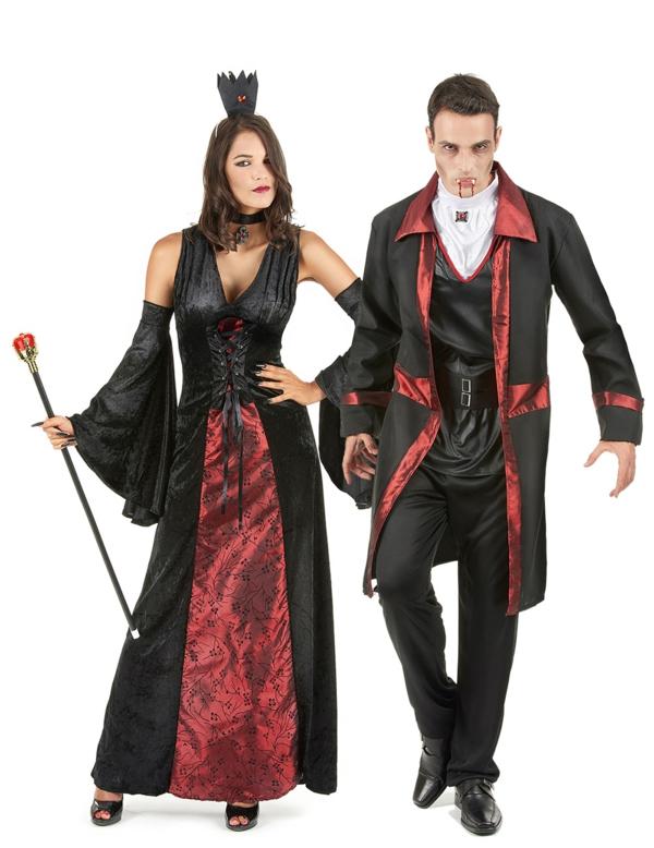 costume de vampire idée de déguisement couple halloween