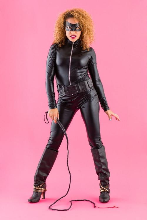costume super héros pour Halloween la Catwoman