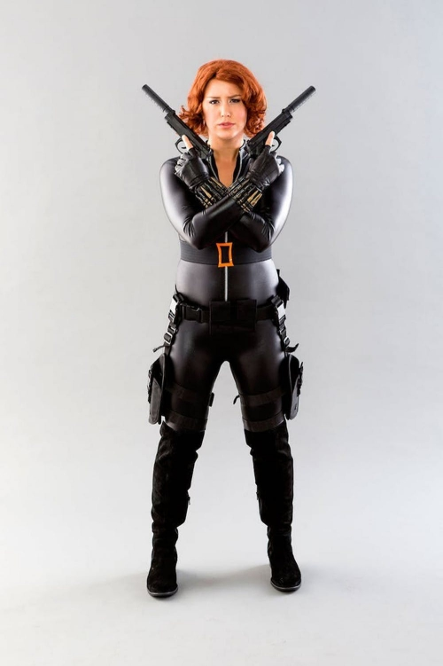 costume super héros pour Halloween la Veuve Noire