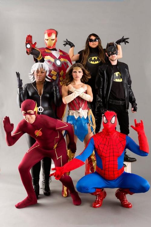 costume super héros pour Halloween tous les héros ensemble