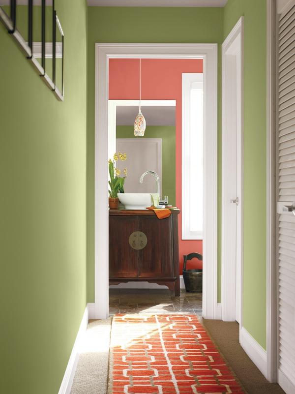 couleur couloir ambiance vintage