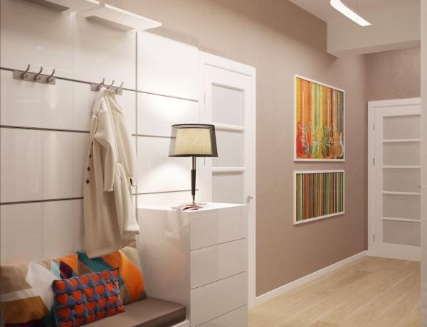 couleur couloir blanc et pastel