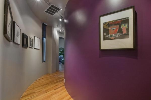 couleur couloir corridor courbé