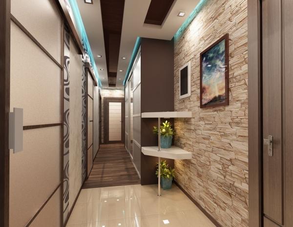 couleur couloir corridor moderne