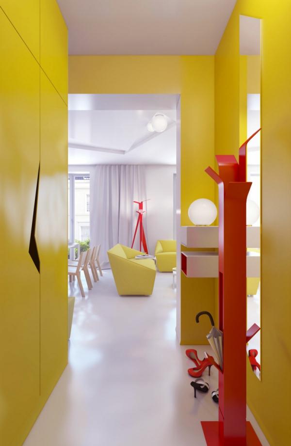 couleur couloir le jaune flashy est privilégié