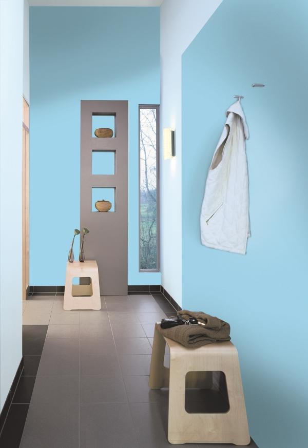 couleur couloir plafond blanc