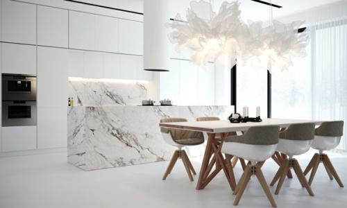 crédence marbre style design moderne