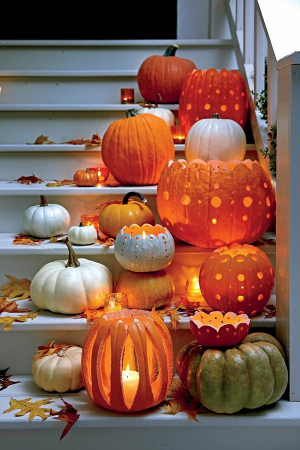 creuser une citrouille pour halloween motifs décoratifs