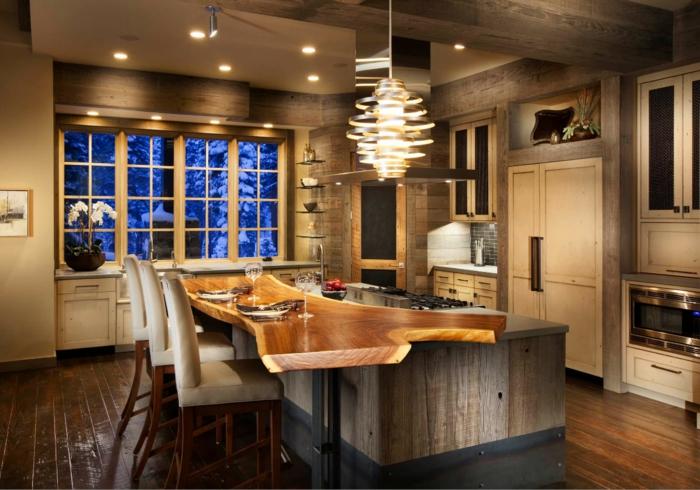 cuisine équipée avec îlot design moderne