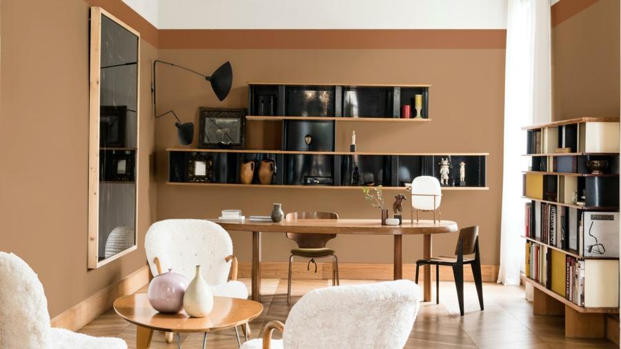 Chambre Ado Palette : Couleur de peinture tendance brun miel épicé