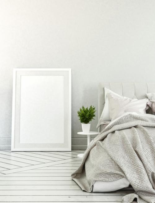 déco petit espace mur et plancher blancs