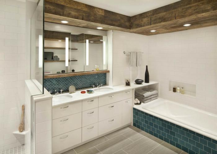 déco salle de bain plafond poutre apparente