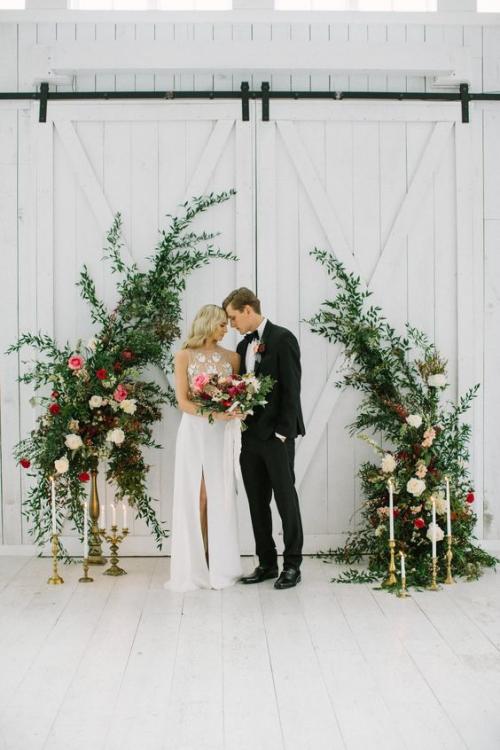 décoration mariage des fleurs et de la verdure