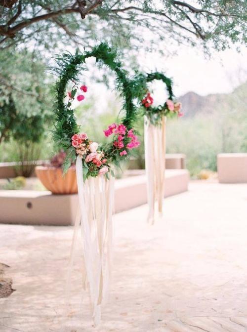 décoration mariage grandes jardinières