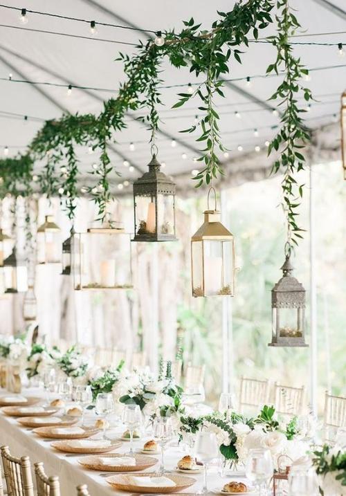 décoration mariage guirlandes d'ampoules électriques