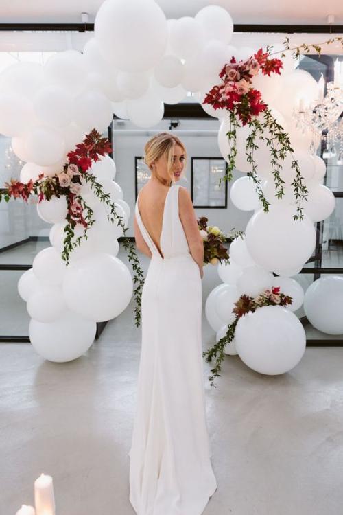 décoration mariage jolie mariée à la robe longue