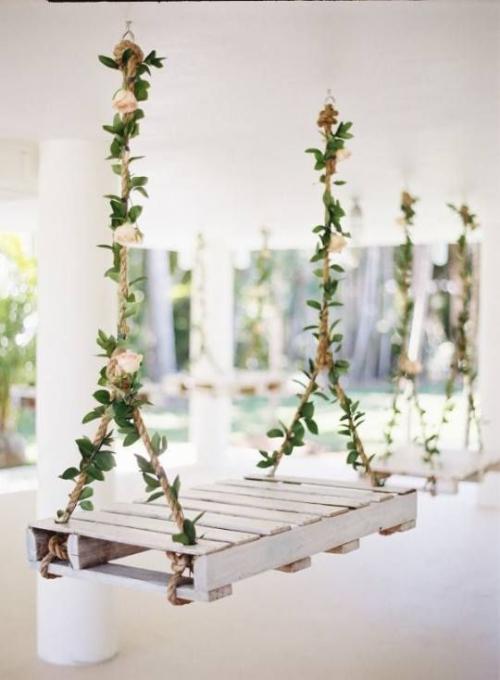 décoration mariage palettes en bois