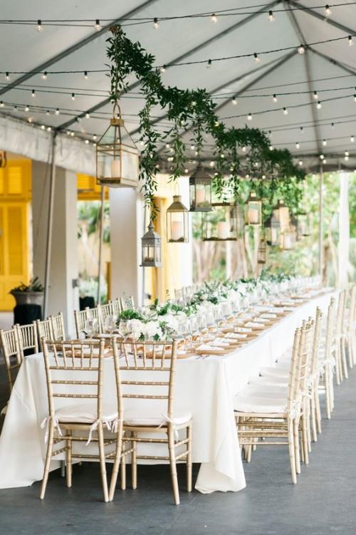 décoration mariage table décorée de fleurs