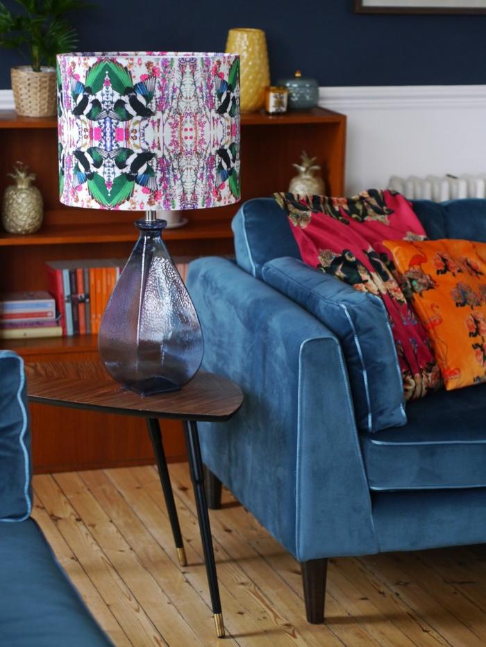 décoration tendance style maximaliste lampe de chevet design