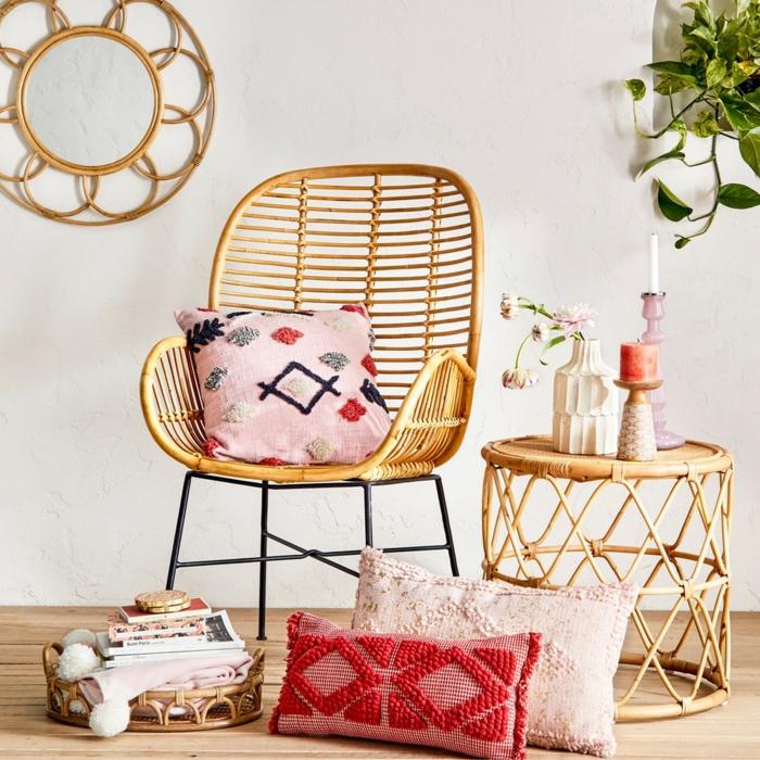décoration tendance style maximaliste mobilier en rotin