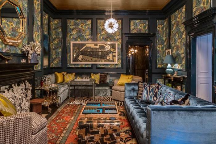 décoration tendance style maximaliste mobilier rembourré