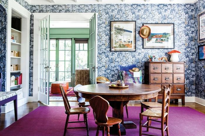 décoration tendance style maximaliste salle à manger couleurs tendance