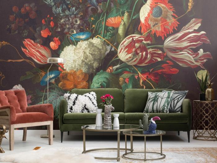 décoration tendance style maximaliste salon couleurs 2019