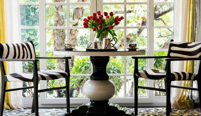 décoration tendance style maximaliste salon motifs graphiques
